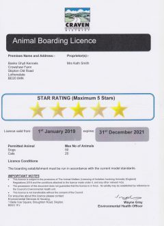Five Star Rated Kennels